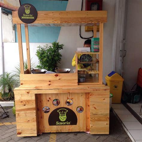 Etalase Kayu Bekas jual beli booth stand rombong gerobak dari kayu jati