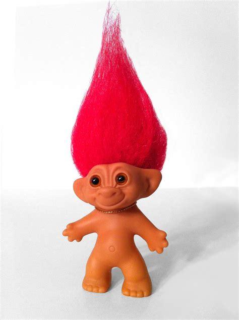original wishnik troll doll red hair by swelln on etsy
