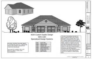 Cheap Duplex Plans 2 Bedroom Duplex Plans Blueprints Construction Documents