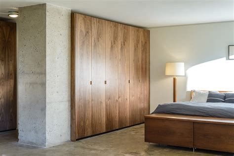 ikea bedroom closets walnut ikea closet contemporary bedroom new york
