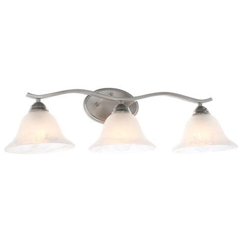 Brushed Nickel Bathroom Ceiling Light Fixtures Nucleus Home Hton Bay Andenne 3 Light Brushed Nickel Bath Vanity Light 705075 The Home Depot