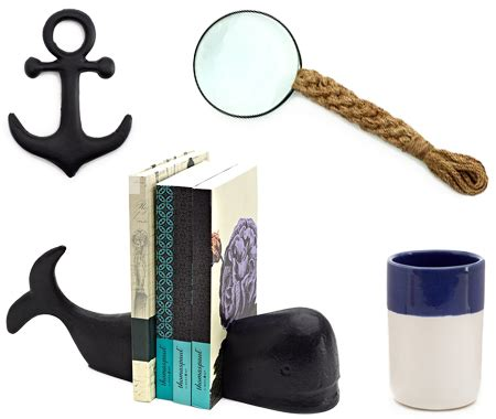 Nautical Desk Accessories 14 Seaside Chic Decorating Finds