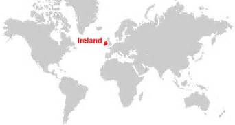 Ireland On World Map by Gallery For Gt Ireland World Map Location