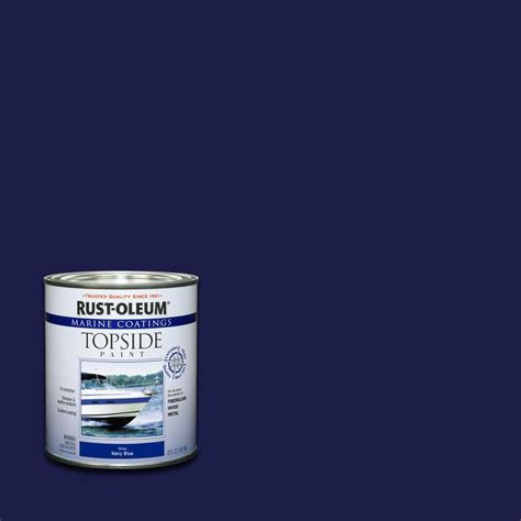 how to make a boat base rust rust oleum marine 1 qt navy blue gloss topside paint