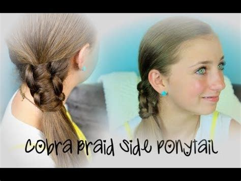 Ponytail Hairstyles For 8 Year Olds | cobra braid side ponytail cute girls hairstyles party