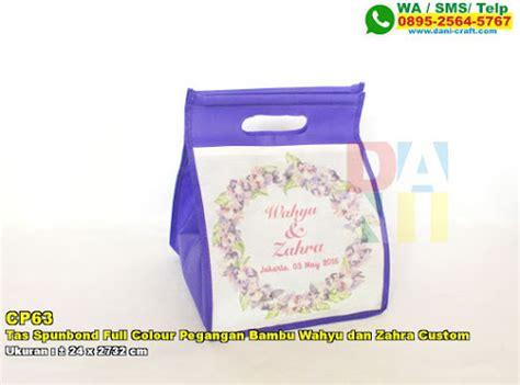 Tas Undangan Pegangan Bulat Motif Custom 35 tas spunbond pegangan bulat sablon batik souvenir