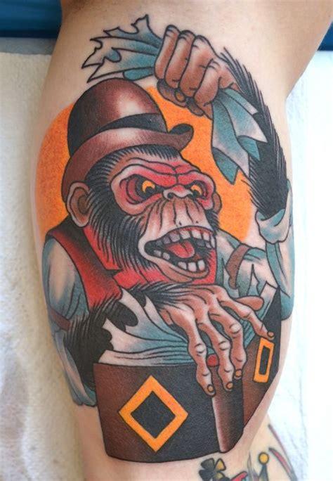 tattoo old school monkey monkey tattoo pics and ideas amazing tattoos
