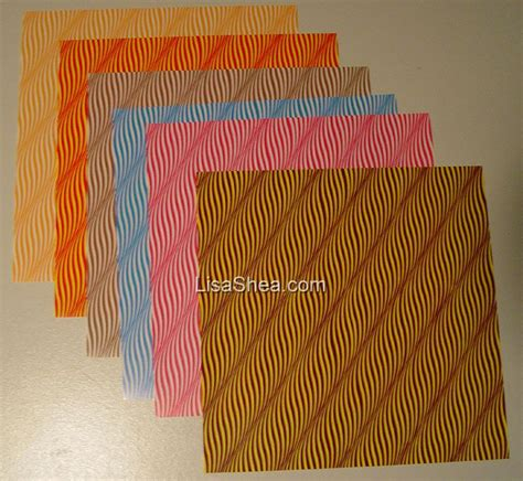 Origami Lines - wavy line washi origami paper