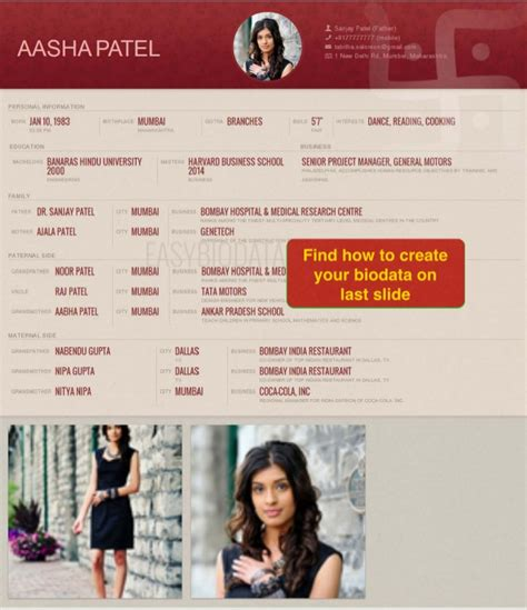 biography format for marriage biodata for marriage exle made with easybiodata com