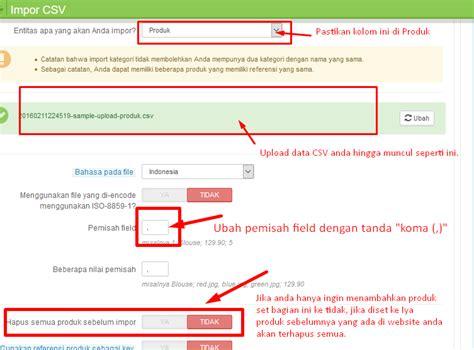 tutorial bikin website toko online tutorial cara upload produk banyak sekaligus dengan file
