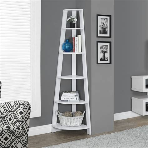 white 5 shelf bookcase shop monarch specialties white 5 shelf bookcase at lowes