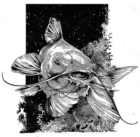 channel catfish drawingclose   piece