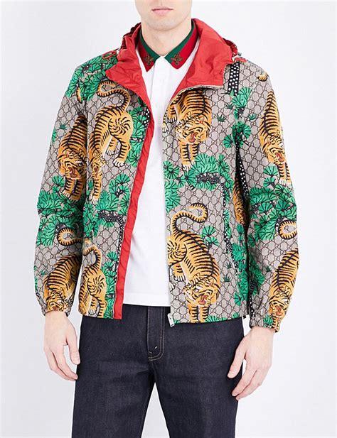 Jaket Fashion Gucci 5 lyst gucci tiger print shell jacket for