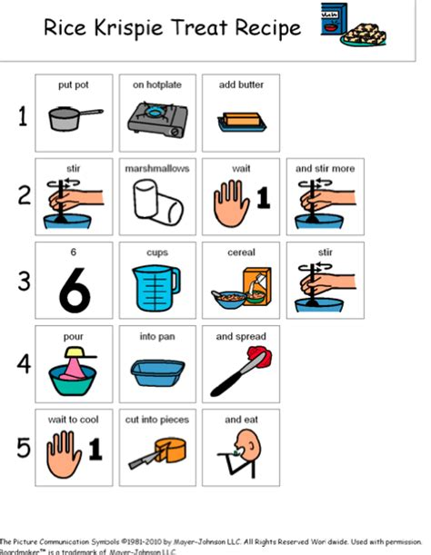 printable boardmaker recipes 1000 images about independent living skills on pinterest