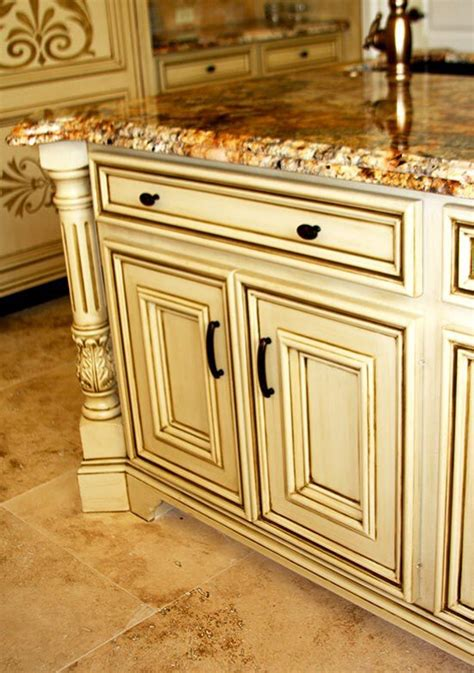 glaze on yellow cabinets how to do it
