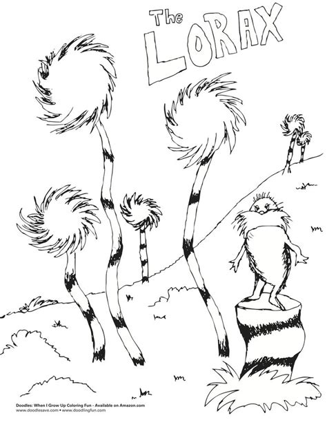 lorax coloring pages lorax printables free coloring lorax worksheets
