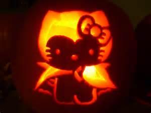Hello kitty pumpkin stencils skull http katrivsor deviantart com art
