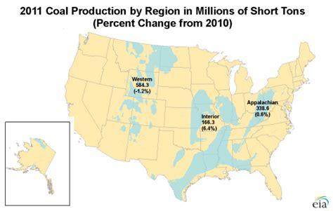 coal mines in texas map peak u s coal production falls in 2012