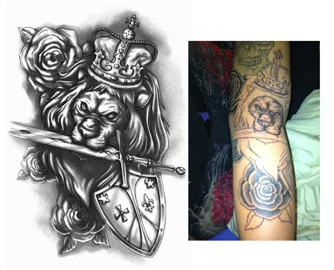 deviant tattoos royal design by crisluspotattoos on deviantart