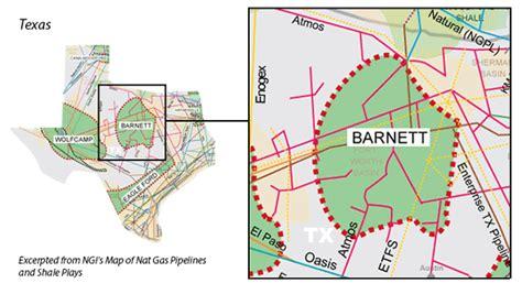 barnett shale map barnett shale facts and information