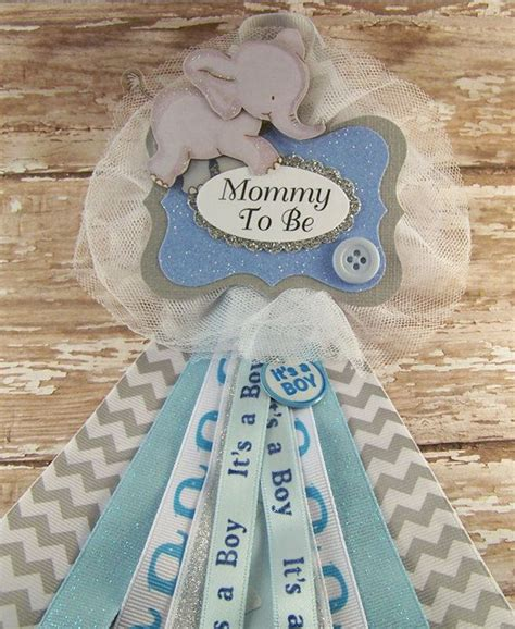 blue elephant to be baby shower corsage or any name