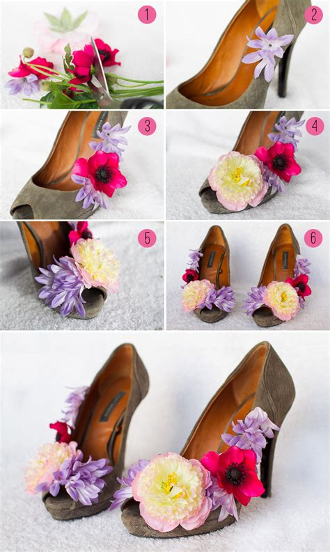 wedding flower shoes wedding diy how to make flower shoes bespoke