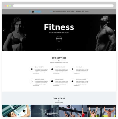20 best home images on fitness studio 20 best fitness website design images on website