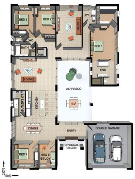 entertaining house plans 1000 ideas about single storey house plans on pinterest