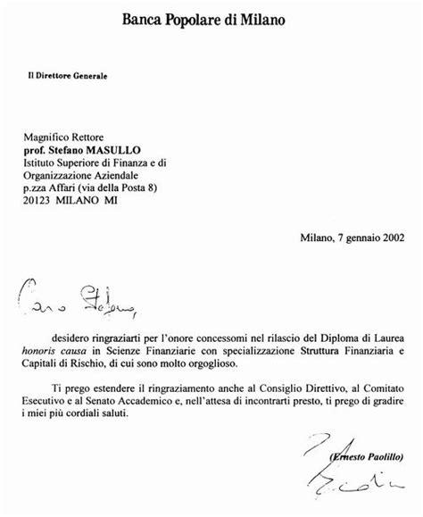 Lettera Di Presentazione Per Banca by Lettera Di Presentazione Banca Firmakoek