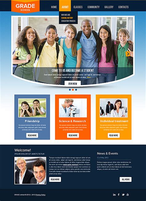 templates for website of college college html website template best website templates