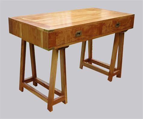bureau traiteau original et superbe bureau sur tr 233 teaux en bois de margousier