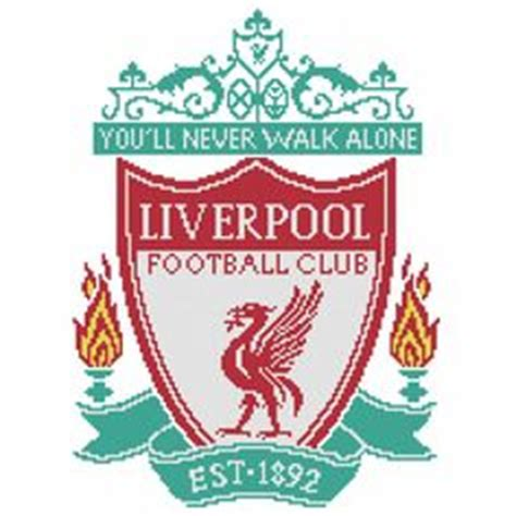 pattern maker liverpool manchester united soccer team logo free cross stitch
