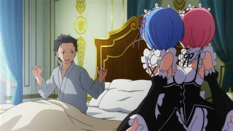 Kaos Rezero Ram Rem White re zero kara hajimeru isekai seikatsu 04 anime evo