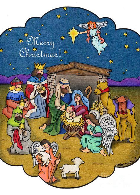nativity scene christmas cards