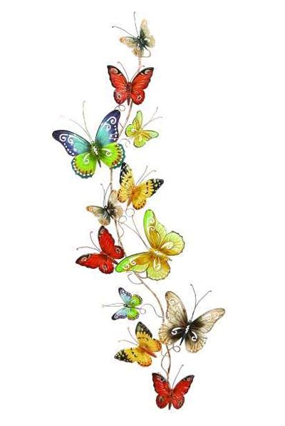 colorful wall decor colorful butterflies wall decor globe imports