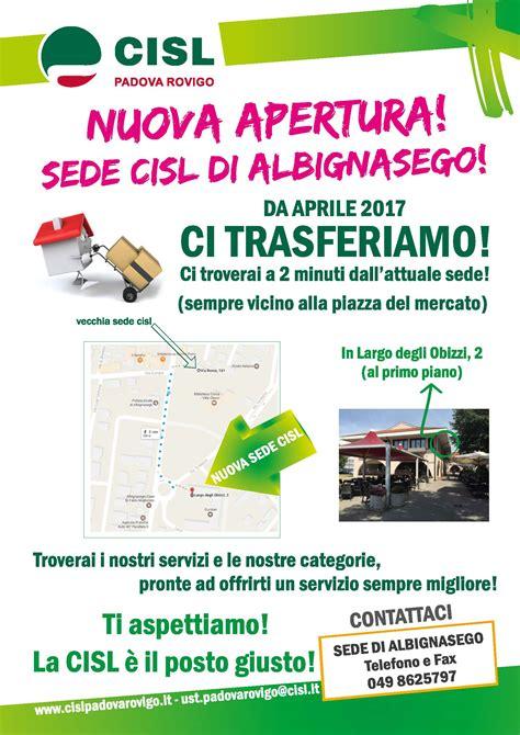 sede cisl roma da aprile 2017 trasferimento sede cisl di albignasego