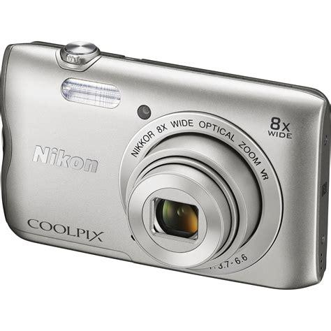 nikon coolpix a digital nikon coolpix a300 digital silver 26519 b h photo