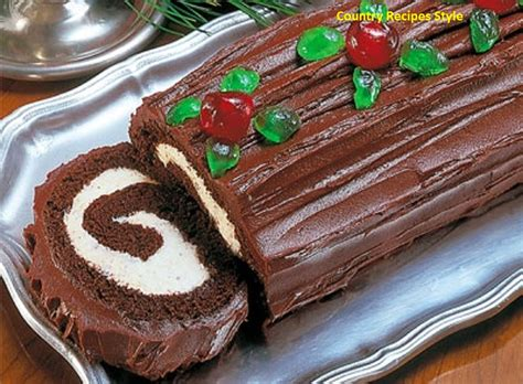 fast and easy christmas yule log cake country recipes
