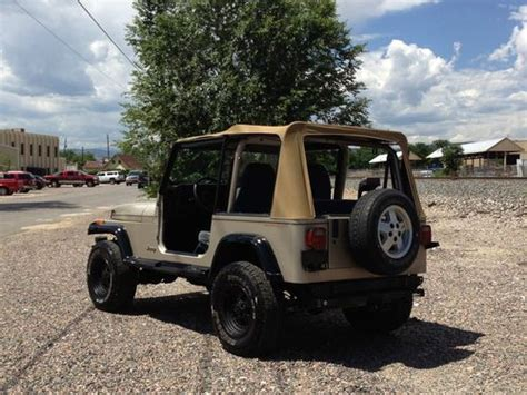 94 Jeep Wrangler 4 Cylinder Buy Used 94 Jeep Wrangler Stock 4 0l 4x4 A C 6 Cyl