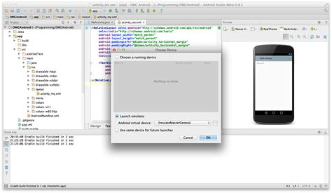 android studio emulator do not show the designed layout beginning android development tutorial installing android