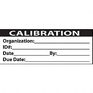 printable calibration stickers duro calibration labels 1x2inch adhesive 5rpl9 iso