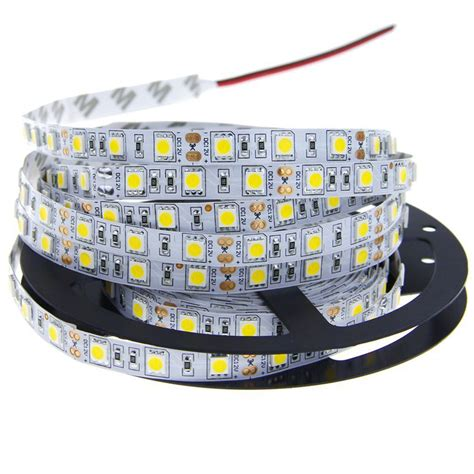Lu Smd Led Strips 5m smd 5050 led light 60leds m 300leds dc 12v cold white green blue yellow rgb