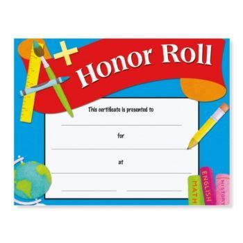 A B Honor Roll Certificate Template by Honor Roll Award Casual Certificates Honor Roll School