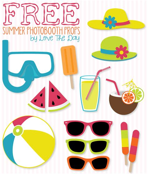 free printable photo booth props party free beach party printables diy photobooth summer and