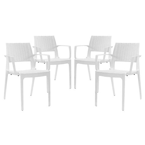 white patterned dining chairs set of 4 astute durable criss cross patterned dining