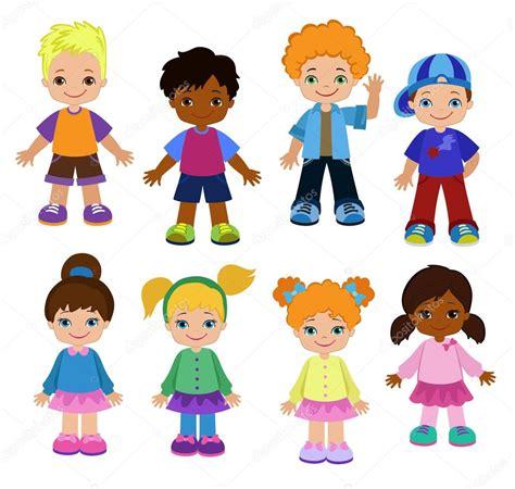 imagenes de niños virtuales conjunto de dibujos animados los ni 241 os alumnos ni 241 os