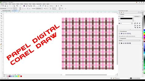 criar pattern corel draw criar papel digital xadrez no corel draw tutorial completo