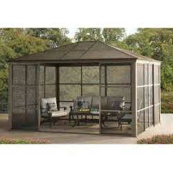 Gazebos Screened Rooms by Sunjoy Conner Screen Room 12 X 14 Roof Panels And Wall