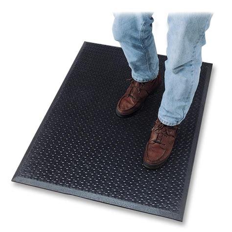 genuine joe flex step anti fatigue mat black 60 quot length