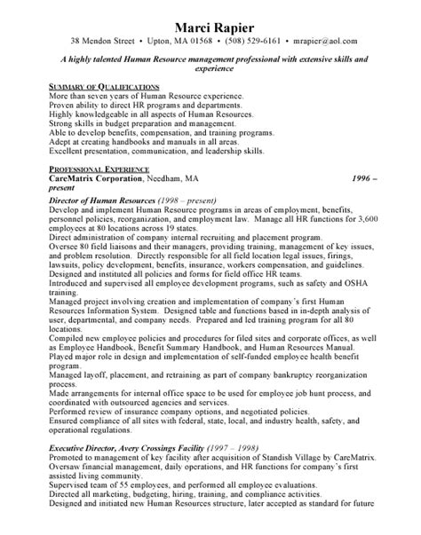 hr administrative assistant resume sle